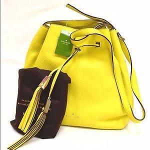 Kate Spade Neon Yellow Bucket bAg Gray Street